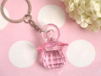 Pink Baby Dummy Key Ring